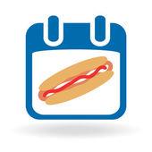 National Hot Dog Day — Vector de stock