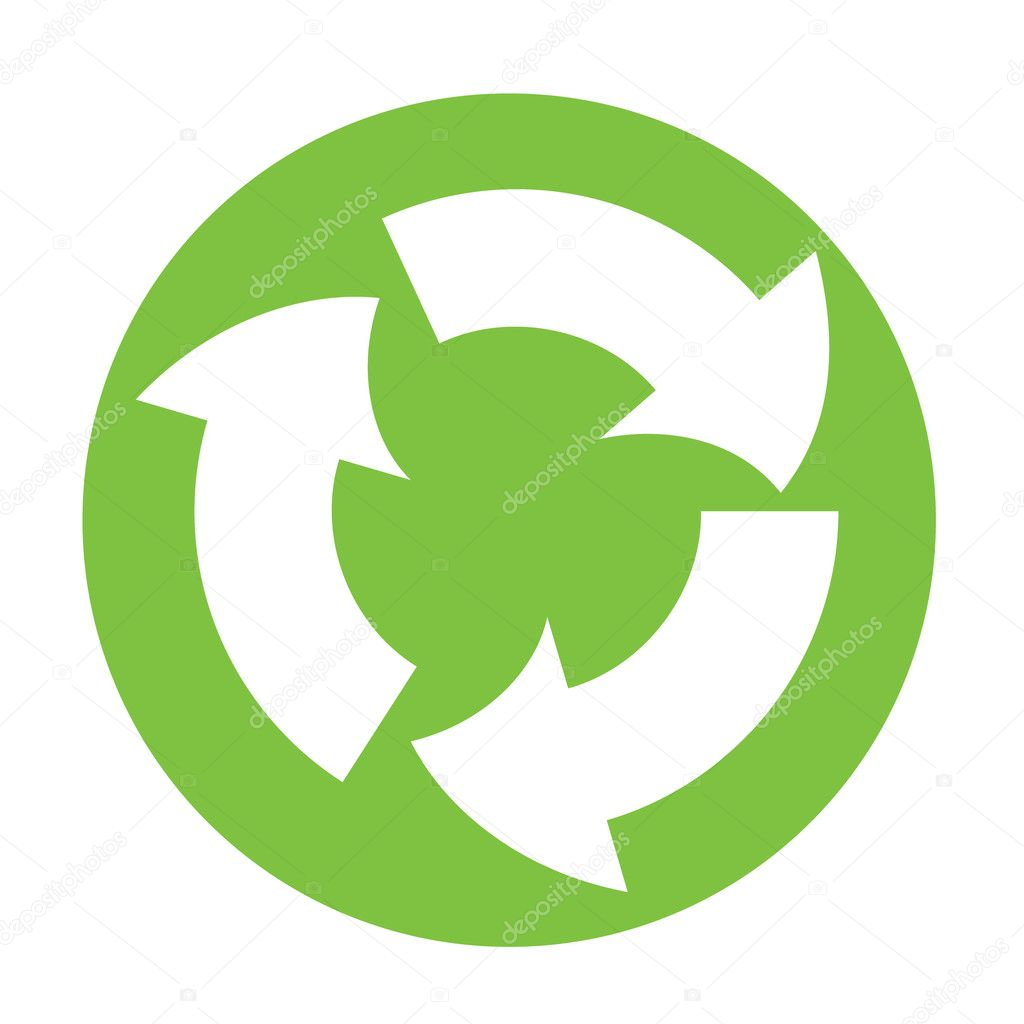 Recycle Symbol Circle Vector Recycle Symbol in Green
