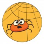 Cute litte cartoon spider — Stock Vector