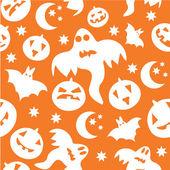 Seamless sfondo halloween con fantasmi — Vettoriale Stock