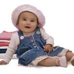 Portret van vrolijke baby — Stockfoto