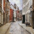 Street of Maastricht, Netherlands - Stock Photo