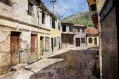 Stará ulice bar město v černé hoře — Stock fotografie