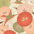 Birds and flowers — Imagen vectorial