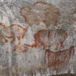 Stock Photo: Rock paintings of ancient in cave