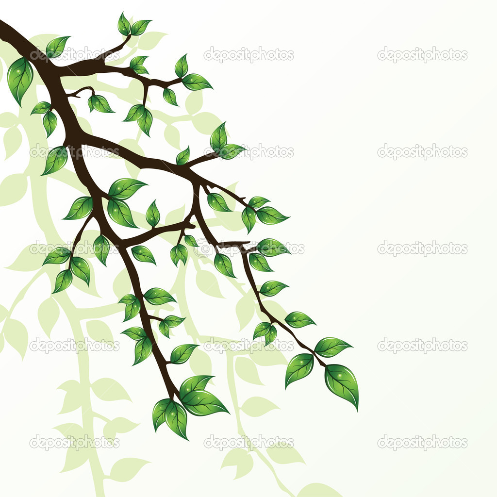 Branch of tree — Imagen vectorial #2944869