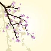 Abstrato com ramo de sakura — Vetorial Stock