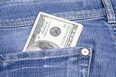 Pengar i fickan — Stockfoto