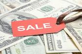 Prodej peníze. Dolar — Stock fotografie