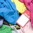 Foto Stock: Clothing at FleMarket Sale