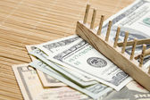 Raking In The Money — Stockfoto