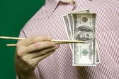Pengar för mat — Stockfoto