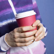 Paper cup of coffee - Stock Photo