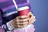 Bicchiere di carta del caffè — Foto Stock