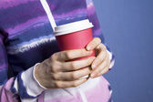 Paper cup of coffee — Stock Photo