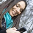 Beautiful Woman & SMS — Stock Photo