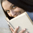 Beautiful female student smiling — Stock Photo #2968195