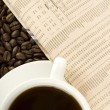 Caffeine Drink & Newspaper — Stockfoto #3051525