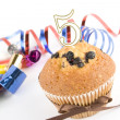Cake on the fifth anniversary — Stock Photo #3105250