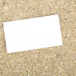 Stock Photo: Businesscard on sand