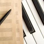 psaní hudby — Stock fotografie