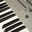 Synthesizer close-up — Stock Photo