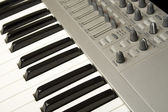 Close-up do sintetizador — Foto Stock