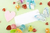 Invitation to the birthday child — Stock Photo