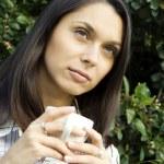 Teen drinking coffee — Stock Photo #3310416