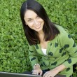 Woman with a Laptop - Stockfoto