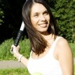 Stock Photo: WomTennis Player