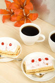 Coffe and cakes — Stock Photo