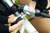 Vol de vélo de la vie privée — Photo