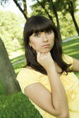 Thoughtful young woman — Foto Stock