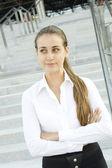 Modern professional business woman — Stock Photo