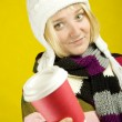 Foto Stock: Coffee Girl