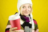 Coffee Girl — Stock Photo