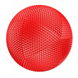 Red thorny textured sphere isolated — Stock Photo #2822986