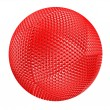 Stock Photo: Red thorny textured sphere isolated