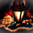 Royalty-Free Stock Photo: A soft focus low key Christmas concept