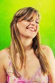 Beautiful blonde smiling — Stock Photo