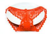 Calcinha vermelha — Fotografia Stock