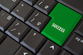 Keyboard with a key to success — Stock Photo