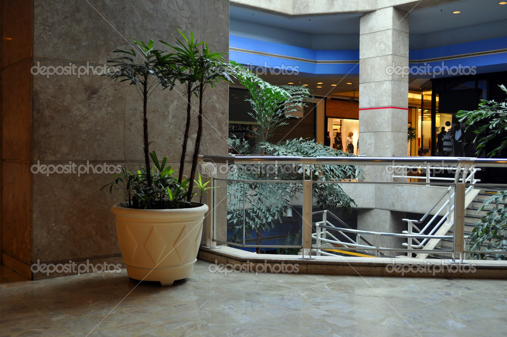 Shopping Mall With Modern Architecture With Details Of