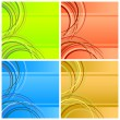 Four abstract backgrounds. - Stock Vector