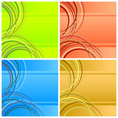 Four abstract backgrounds. — Stock Vector