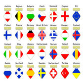Flags of European countries. — Stock Vector