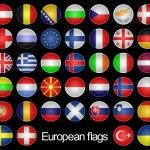 European flags. — Stock Photo
