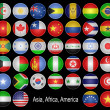 Flags-buttons. — Foto Stock