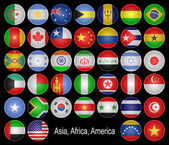 Flags-buttons. — Stock Photo